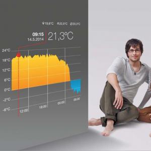 température maison sur smartphone